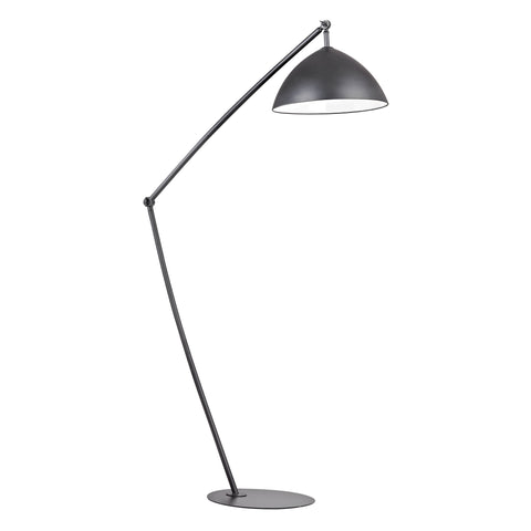 Beautiful Dimond Lighting  Industrial Elements Adjustable Floor Lamp in Matte Black  in  Metal