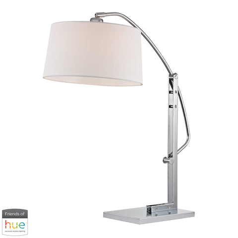 Beautiful Dimond Lighting  Assissi Adjustable Table Lamp in Polished Nickel - with Philips Hue LED Bulb/Dimmer  in  Metal