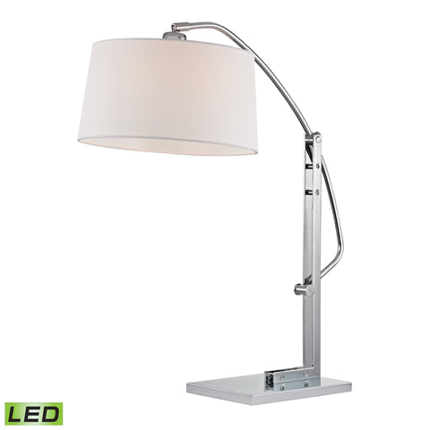 Beautiful Dimond Lighting  Assissi Adjustable LED Table Lamp in Polished Nickel  in  Metal