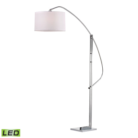 Assissi Adjustable LED Floor Lamp in Polished Nickel