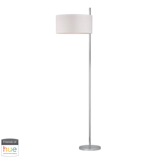 Beautiful Dimond Lighting  Attwood Floor Lamp in Polished Nickel - with Philips Hue LED Bulb/Bridge  in  Metal