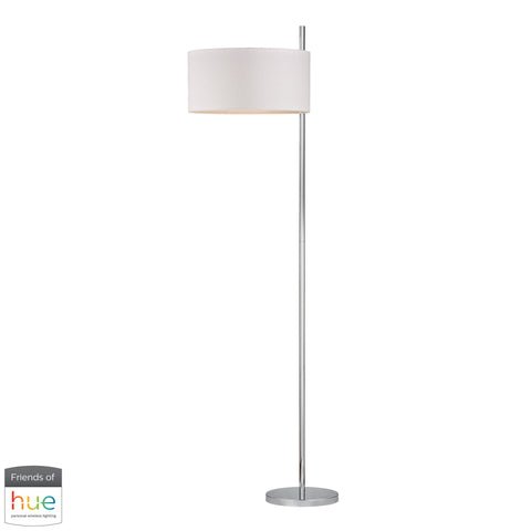 Beautiful Dimond Lighting  Attwood Floor Lamp in Polished Nickel - with Philips Hue LED Bulb/Dimmer  in  Metal
