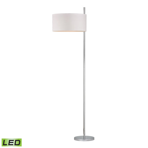 Beautiful Dimond Lighting Attwood LED Floor Lamp in Polished Nickel