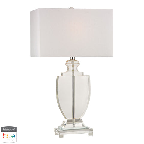 Beautiful Dimond Lighting  Avonmead Solid Crystal Table Lamp - with Philips Hue LED Bulb/Dimmer  in  Crystal