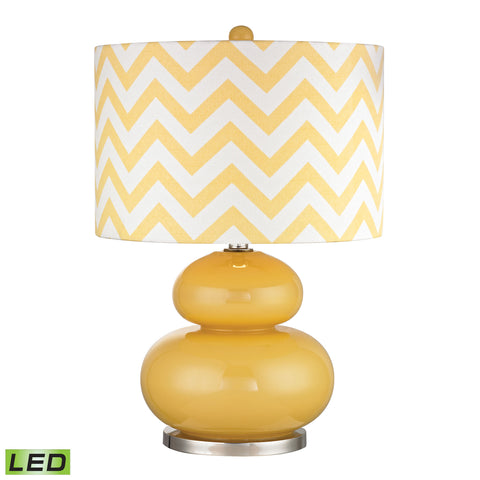 Beautiful Dimond Lighting  Tavistock LED Table Lamp In Sunshine Yellow And Polished Nickel  in  Glass, Metal