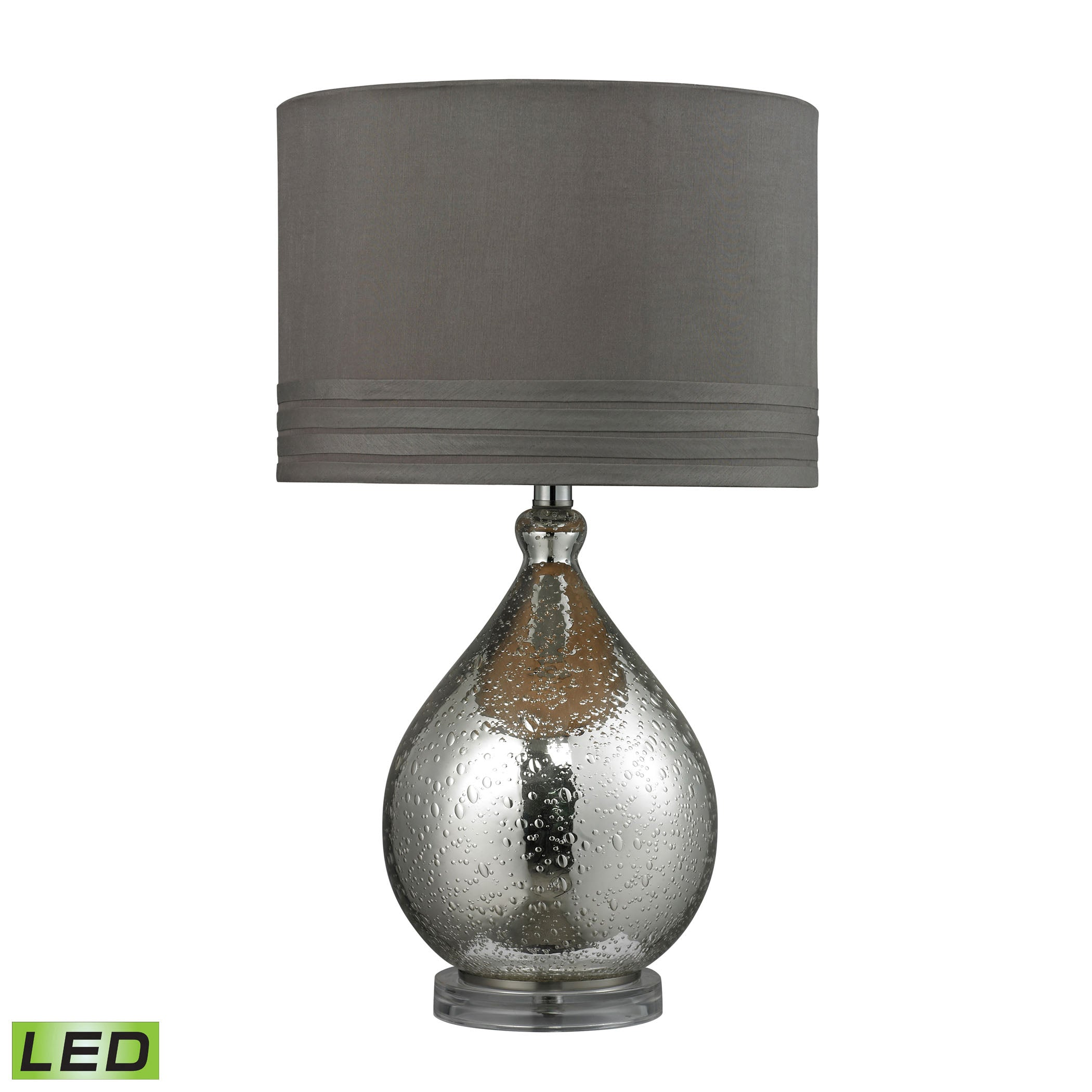 Beautiful Dimond Lighting  Bubble Glass LED Table Lamp in Mercury Plate Finish  in  Acrylic, Glass