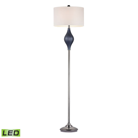 Beautiful Chester Glass LED Floor Lamp in Navy And Black Nickel for your Indoor Lighting.