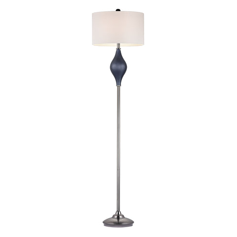 Beautiful Chester Glass Floor Lamp in Navy And Black Nickel for your Indoor Lighting.