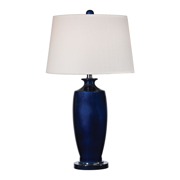 Beautiful Dimond Lighting Halisham Ceramic Table Lamp in Navy Blue