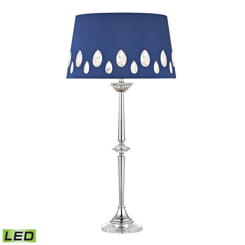 Beautiful Dimond Lighting Telford LED Buffet Lamp In Chrome With Laser Cut Shade