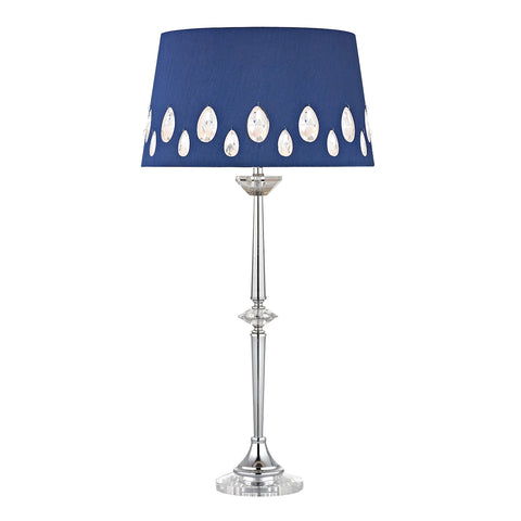 Beautiful Dimond Lighting Telford Buffet Lamp In Chrome With Laser Cut Shade