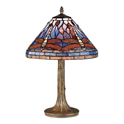 Dragonfly Tiffany Glass Table Lamp.
