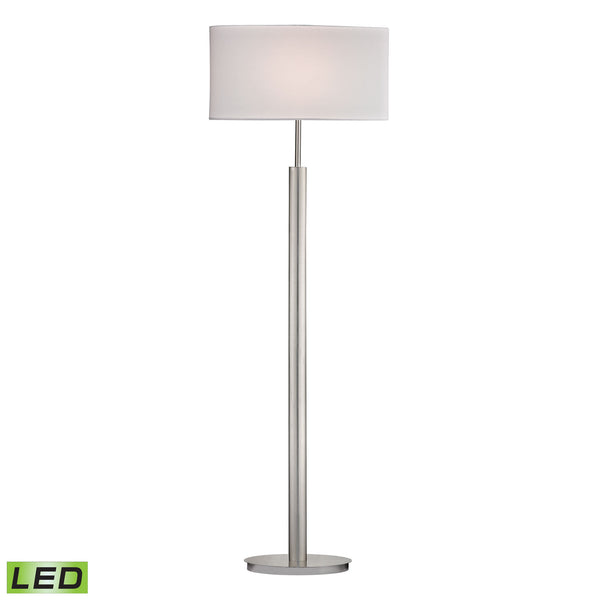 Beautiful Dimond Lighting Port Elizabeth LED Floor Lamp in Satin Nickel