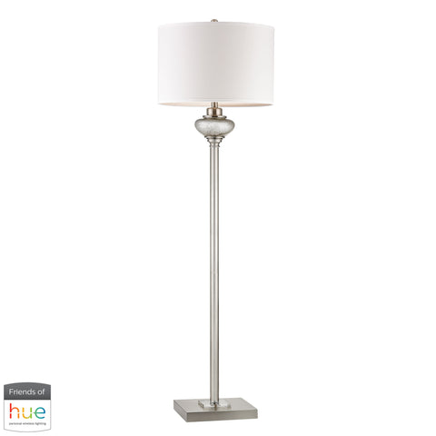Beautiful Dimond Lighting  Edenbridge Antique Mercury Glass Floor Lamp with LED Nightlight - with Philips Hue LED Bulb/Dimmer  in  Glass, Metal