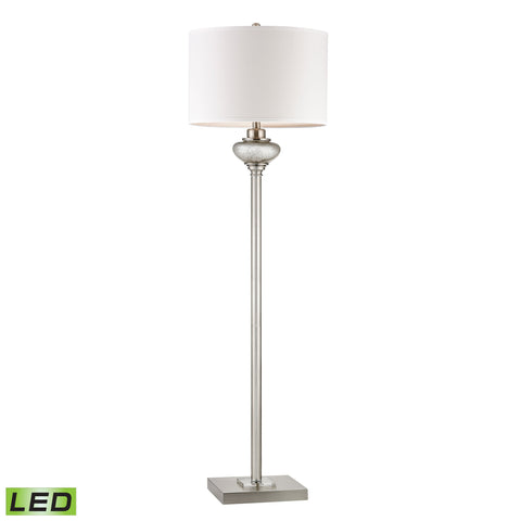 Beautiful Dimond Lighting  Edenbridge Antique Mercury Glass LED Floor Lamp With LED Nightlight  in  Glass, Metal