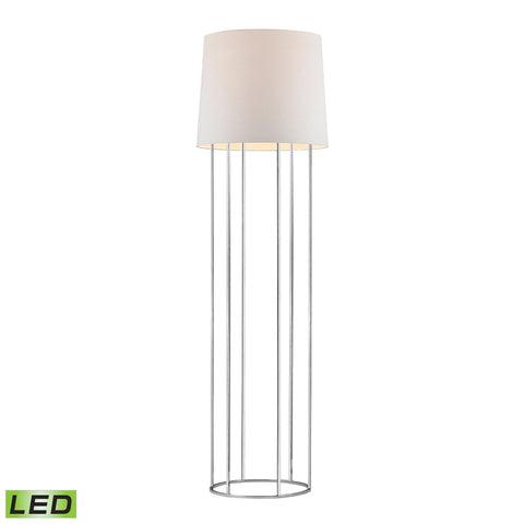 Beautiful Dimond Lighting  Barrel Frame LED Floor Lamp in Polished Chrome  in  Metal