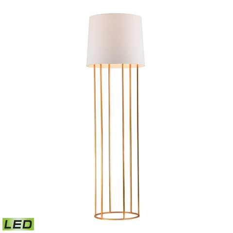 Beautiful Dimond Lighting Barrel Frame LED Floor Lamp in Gold Leaf Finish