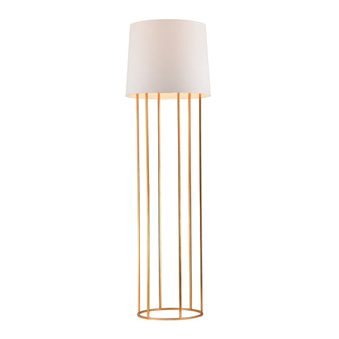 Beautiful Dimond Lighting Barrel Frame Floor Lamp in Gold Leaf Finish