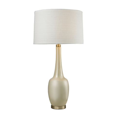 Beautiful Dimond Lighting  (Cream) Modern Ceramic Vase Table Lamp  in  Ceramic, Metal