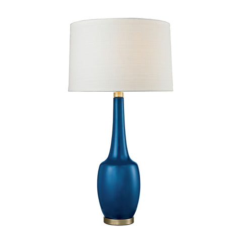 Beautiful Dimond Lighting  (Blue) Modern Ceramic Vase Table Lamp  in  Ceramic, Metal