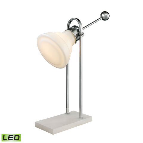 Beautiful Dimond Lighting Adjustable Vintage Ball Handle LED Desk Lamp in Polished Nickel