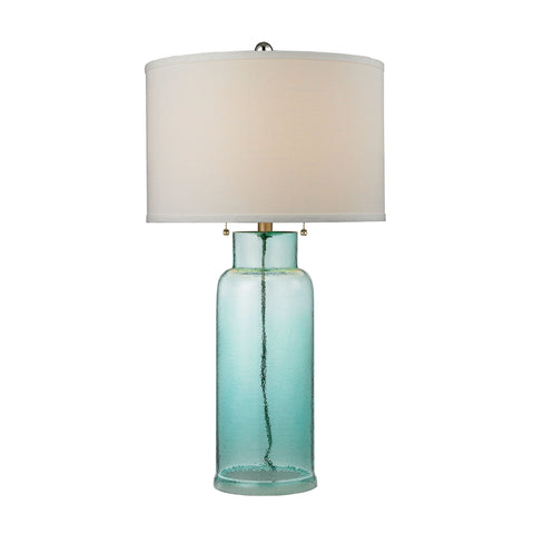 Beautiful Dimond Lighting Glass Bottle Table Lamp in Seafoam Green