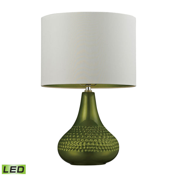 Beautiful Dimond Lighting Ceramic LED Table Lamp in Bright Green