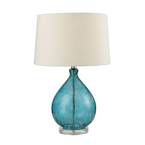 Beautiful Dimond Lighting Wayfarer Glass Table Lamp in Teal