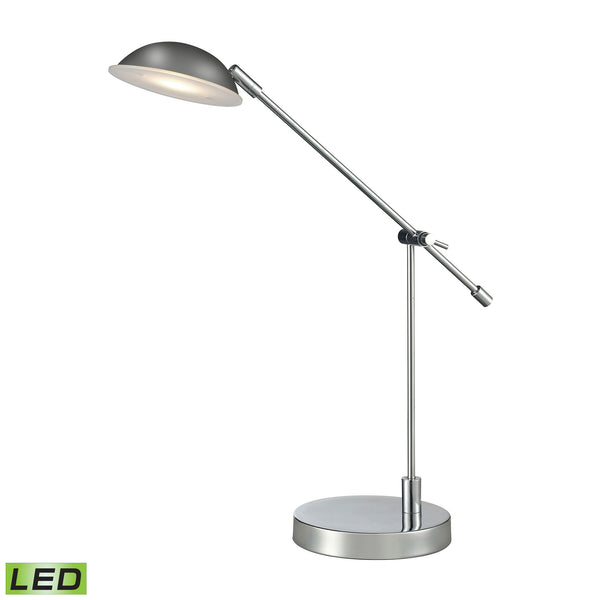 Beautiful Dimond Lighting Alban Adjustable LED Desk Lamp in Polished Chrome