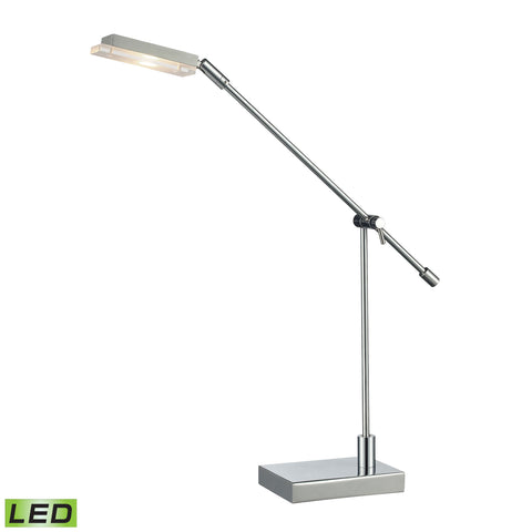 Beautiful Dimond Lighting Bibliotheque Adjustable LED Desk Lamp in Polished Chrome