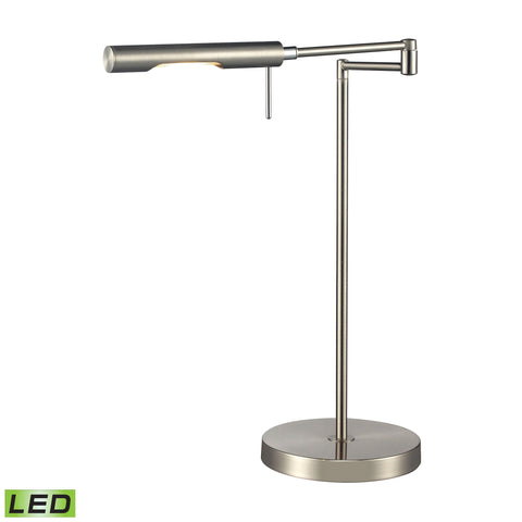 Beautiful Dimond Lighting Laonia Adjustable LED Desk Lamp in Polished Chrome