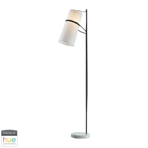 Beautiful Dimond Lighting  Banded Shade Floor Lamp - with Philips Hue LED Bulb/Bridge  in  Metal