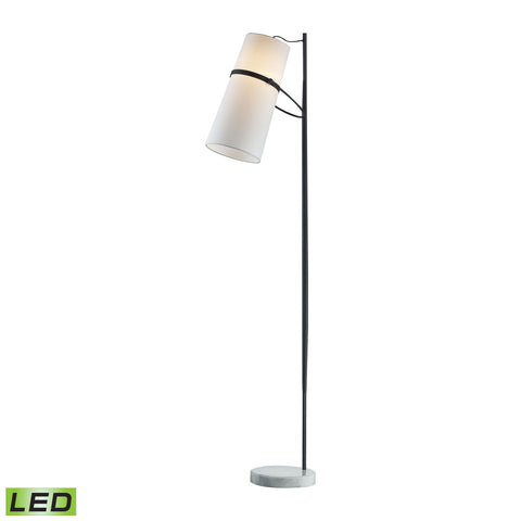 Beautiful Dimond Lighting  Banded Shade LED Floor Lamp  in  Metal