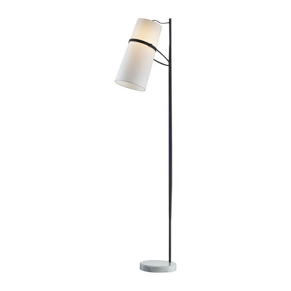 Beautiful Dimond Lighting  Banded Shade Floor Lamp  in  Metal