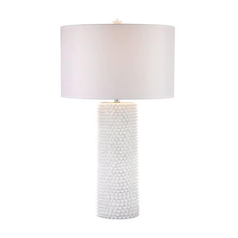 Beautiful Dimond Lighting Punk 1 Light Table Lamp In White