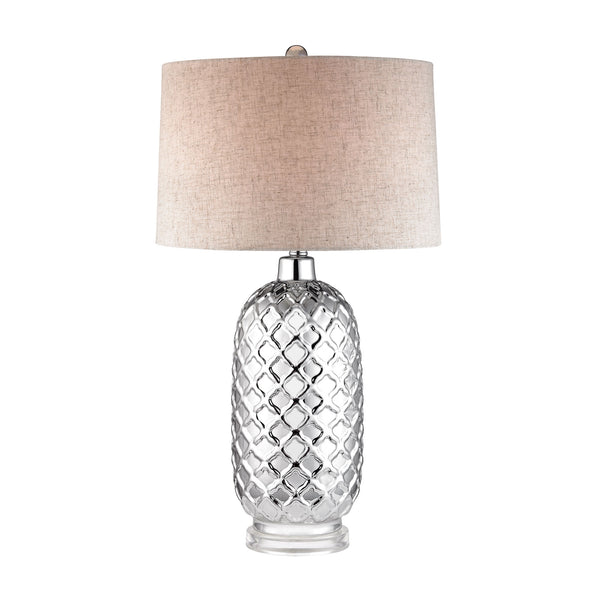 Beautiful Dimond Lighting Chrome Quatrefoil Lamp