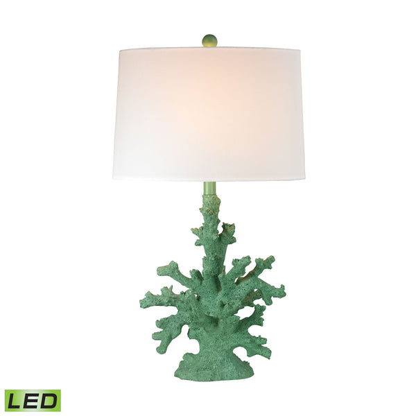Beautiful Dimond Lighting Coral LED Table Lamp In Green