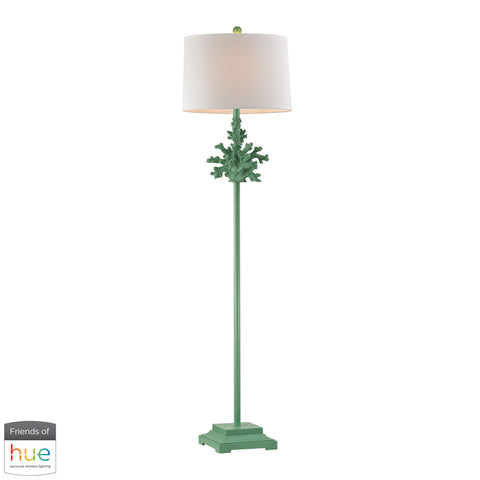Beautiful Dimond Lighting  Coral Floor Lamp in Green - with Philips Hue LED Bulb/Dimmer  in  Composite
