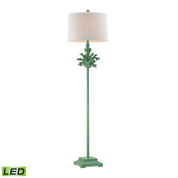 Beautiful Dimond Lighting  Coral LED Floor Lamp In Green  in  Composite