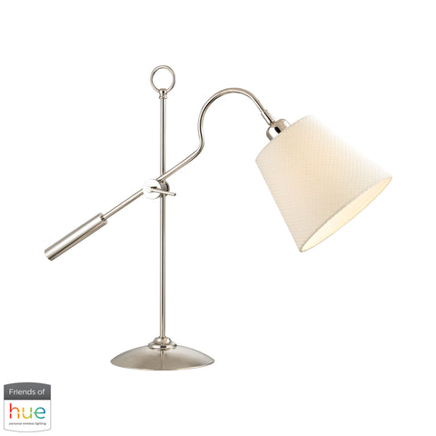 Beautiful Dimond Lighting  Colonial Shaded Desk Lamp - with Philips Hue LED Bulb/Dimmer  in  Metal
