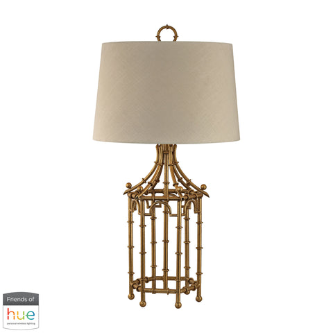 Beautiful Dimond Lighting  Bamboo Birdcage Table Lamp - with Philips Hue LED Bulb/Dimmer  in  Metal