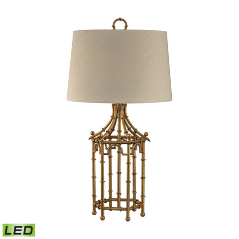 Beautiful Dimond Lighting  Bamboo Birdcage LED Table Lamp  in  Metal