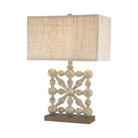 Beautiful Biscay 1 Light Table Lamp In Castlebawn Stone for your Indoor Lighting.