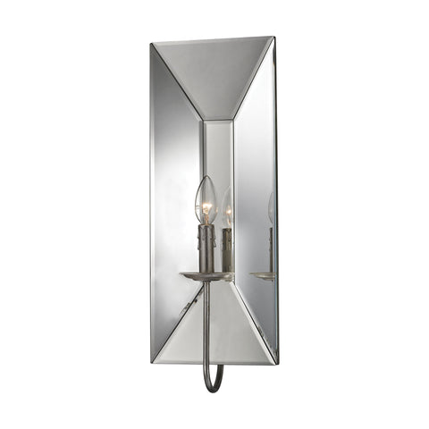 Beautiful Dimond Lighting Bureau 1 Light Wall Sconce In Silver Leaf