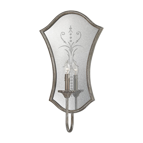 Beautiful Dimond Lighting  Gruyere 1 Light Wall Sconce In Antique Silver  in  Metal, Mirror