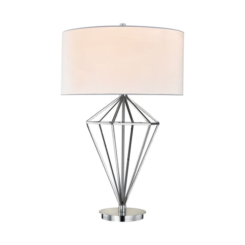 Beautiful Adele 1 Light Table Lamp In Polished Nickel for your Indoor Lighting.