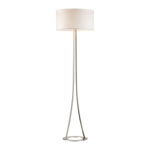 Beautiful Dimond Lighting  Alder 2 Light Floor Lamp In Brushed Nickel  in  Metal