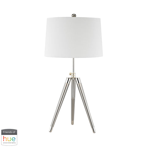 Beautiful Dimond Lighting  Academy Table Lamp - with Philips Hue LED Bulb/Bridge  in  Linen, Metal