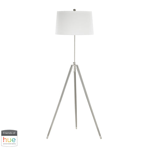 Beautiful Dimond Lighting  Academy Floor Lamp - with Philips Hue LED Bulb/Dimmer  in  Linen, Metal