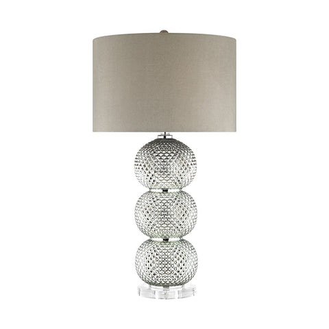 Beautiful Dimond Lighting  Barthelemy Table Lamp  in  Acrylic, Glass, Linen